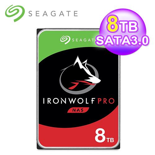 【Seagate】IronWolf 那嘶狼 8TB 3.5吋 NAS硬碟 (ST8000VN004)
