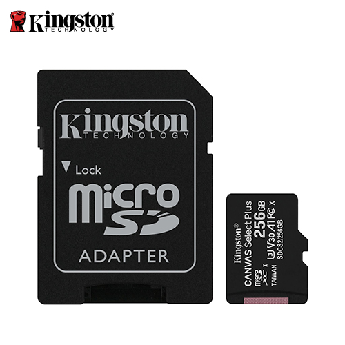 【Kingston 金士頓】Canvas Z Plus microSD 256GB 記憶卡(SDCS2/256GB)