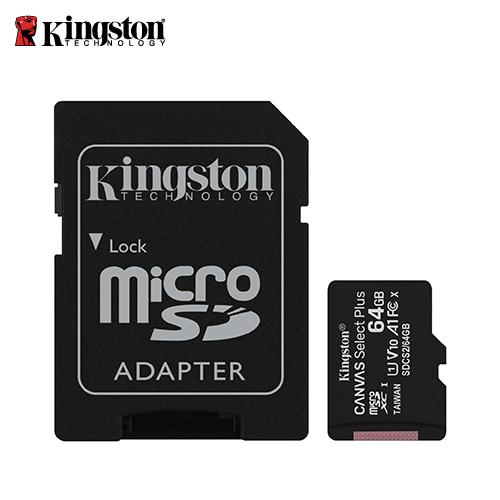 【Kingston 金士頓】Canvas Z Plus microSD 64GB 記憶卡(SDCS2/64GB)