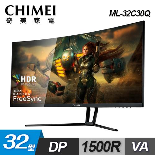 【CHIMEI 奇美】32型 曲面電競液晶螢幕 ML-32C30Q