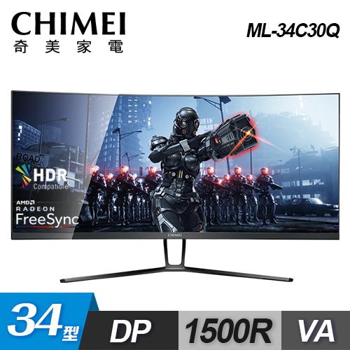 【CHIMEI 奇美】34型 21:9 超寬曲面電競螢幕