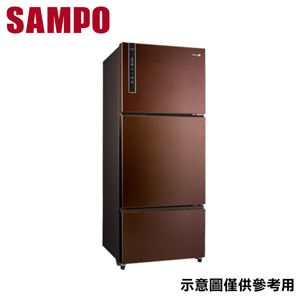 【SAMPO聲寶】580L 三門變頻冰箱 SR-B58DV(R9)