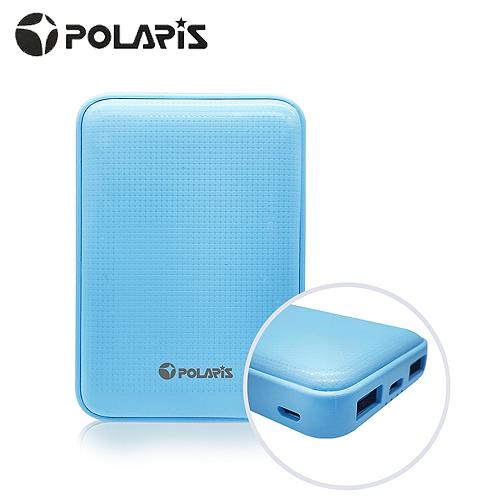 【POLARIS 北極星】13000series Type-C雙向快充 小格紋行動電源(藍)