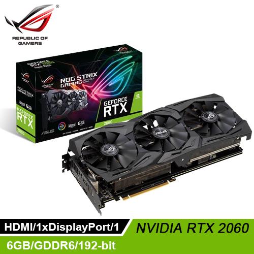 【ASUS 華碩】ROG Strix GeForce RTX 2060 A6GB GAMING 顯示卡