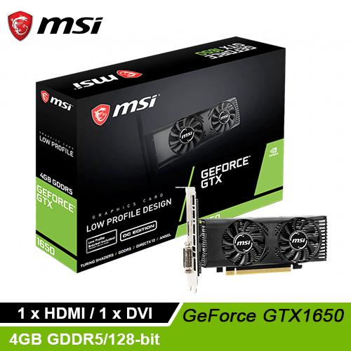 【MSI 微星】GTX 1650 4GT LP OC 顯示卡