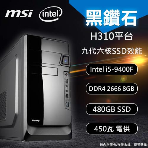 【DIY 電腦】黑鑽石 微星H310 i5六核心SSD效能電腦