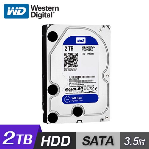 【WD 威騰】WD20EZAZ 2TB 藍標 3.5吋 內接硬碟