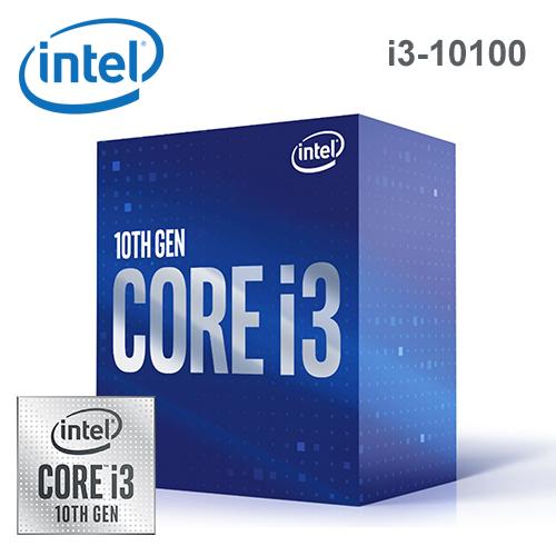 【Intel 英特爾】第十代 Core i3-10100 四核心處理器