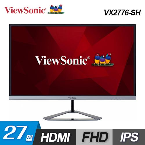 【ViewSonic 優派】27型 IPS無框纖薄美型螢幕(VX2776-SH)