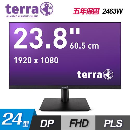 【terra 沃特曼】2463W 24型PLS LED廣視角無邊框螢幕