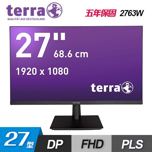 【terra 沃特曼】2763W 27型 PLS LED 廣視角無框抗藍光螢幕