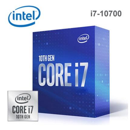 【Intel 英特爾】第十代 Core i7-10700 八核心處理器