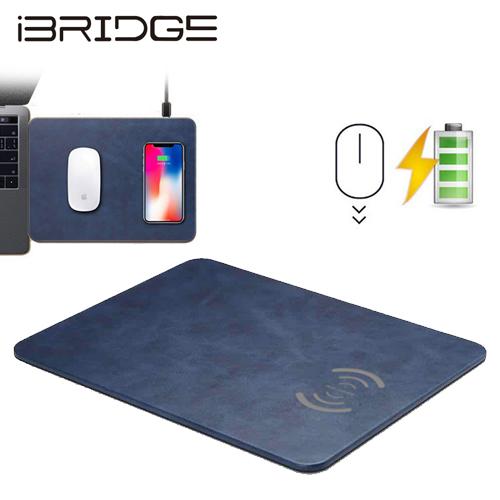 【iBRIDGE】IBW002 無線充電滑鼠墊(藍)