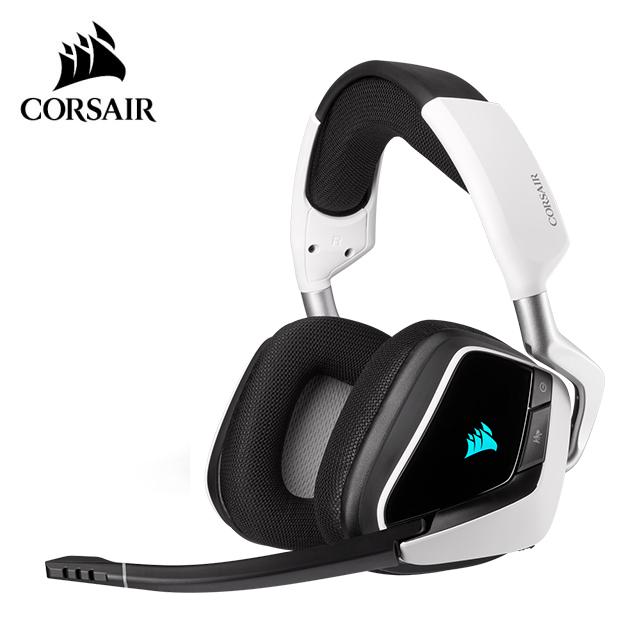 【CORSAIR 海盜船】VOID RGB ELITE USB 有線電競耳麥(白)