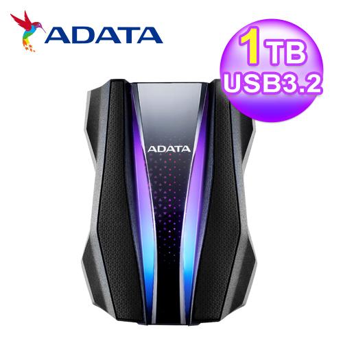 【ADATA 威剛】HD770G RGB 1TB 2.5吋軍規硬碟(黑)