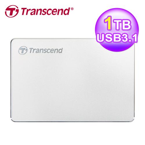 【Transcend 創見】1TB StoreJet 25C3S 極致輕薄2.5吋Type C行動硬碟
