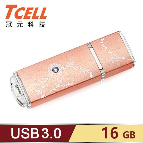 TCELL 冠元 USB3.0 16GB 絢麗粉彩隨身碟-玫瑰金