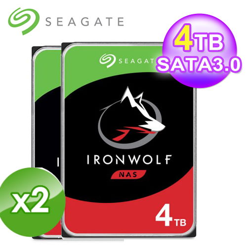 【Seagate】IronWolf 那嘶狼 4TB 3.5吋 NAS硬碟 (ST4000VN008)