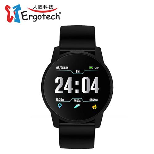 【Ergotech 人因科技】ERGOLINK MWB216 大錶徑心率智慧監測運動手錶 黑色