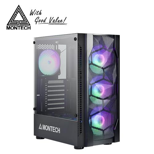 【MONTECH】X1 玻璃側板RGB機殼(黑)