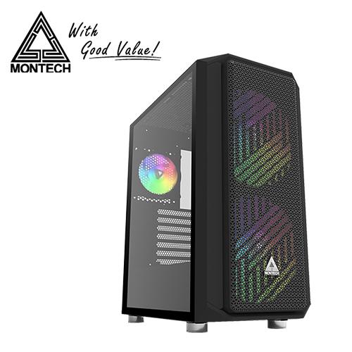【Montech】AIR X ARGB 強化玻璃側板 ATX 電腦機殼 黑色
