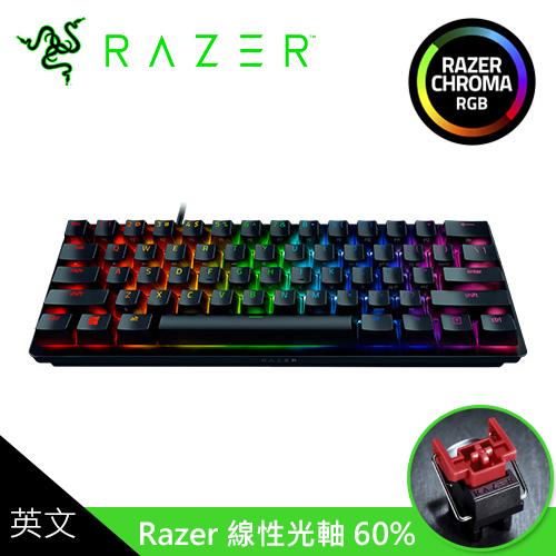 【Razer 雷蛇】Huntsman Mini 獵魂光蛛 60% 機械式鍵盤 (英文/紅軸)