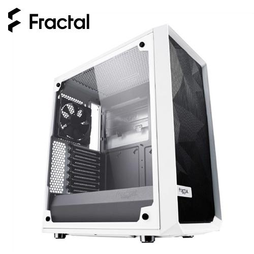 【瑞典 Fractal Design】Meshify C - TG 淺色鋼化玻璃透側電腦機殼 白色