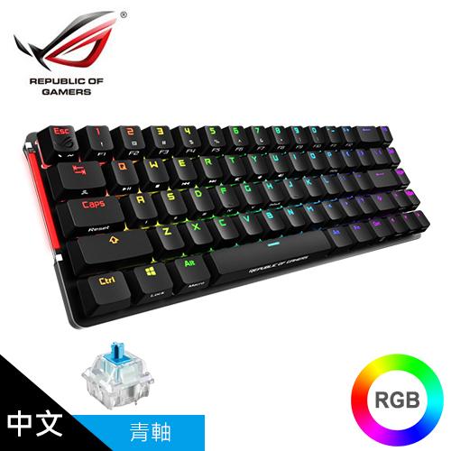 【ASUS 華碩】ROG Falchion 65% 無線電競鍵盤(青軸)