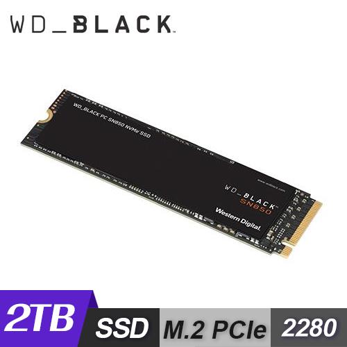 【WD 威騰】黑標 SN850 2TB M.2 2280 PCIe SSD 固態硬碟