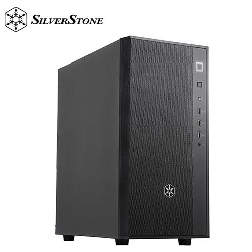 【銀欣】FARA R1 簡單典雅中塔式金屬側板機殼 黑色