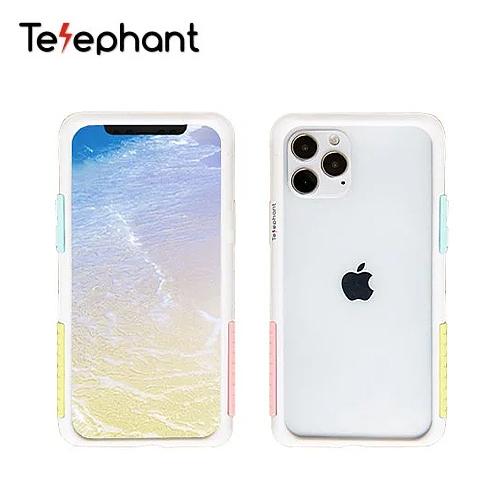 【Telephant 太樂芬】iPhone12 Pro 6.1吋 抗汙防摔邊框手機殼(棉花糖)