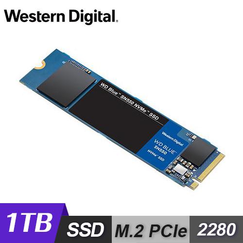 【WD 威騰】藍標 SN550 1TB M.2 2280 PCIe SSD 固態硬碟