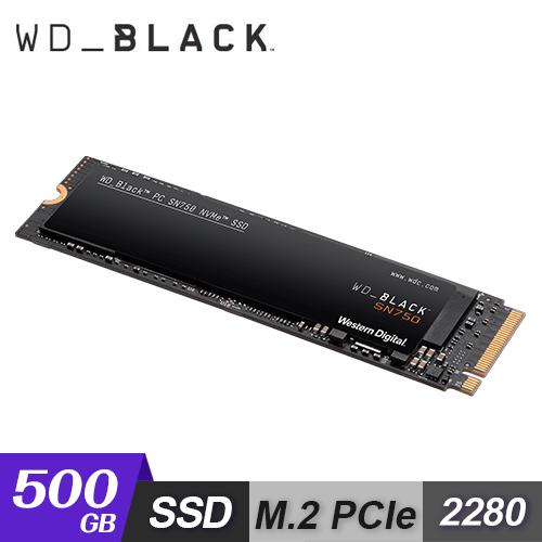 【WD 威騰】黑標 SN750 500GB NVMe M.2 PCIe SSD 固態硬碟