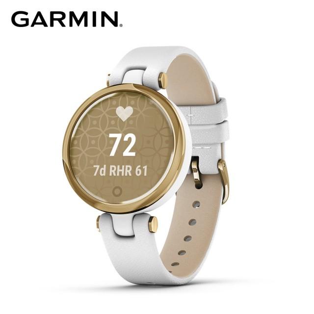 【GARMIN】Lily 智慧腕錶 經典款 - 純白燦日金