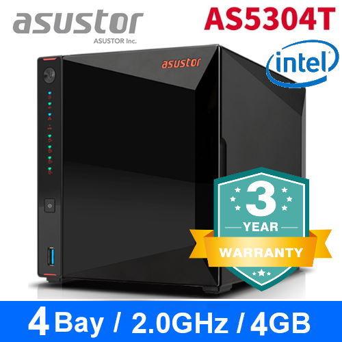 【asustor 華芸】AS5304T 4Bay NAS網路儲存伺服器(不含硬碟)