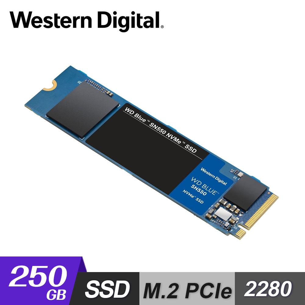 【WD 威騰】藍標 SN550 250GB M.2 2280 PCIe SSD 固態硬碟