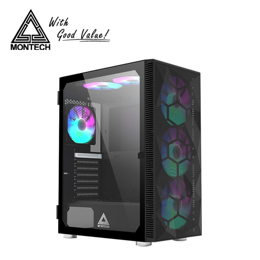 【MONTECH 君主】X3 MESH 電腦機殼-黑