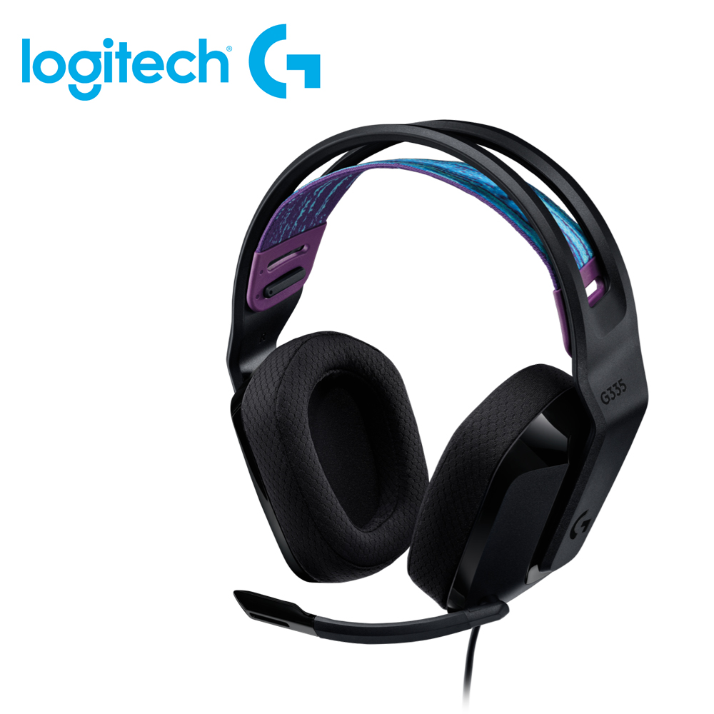 【logitech 羅技】G335 輕盈有線電競耳機麥克風 黑色