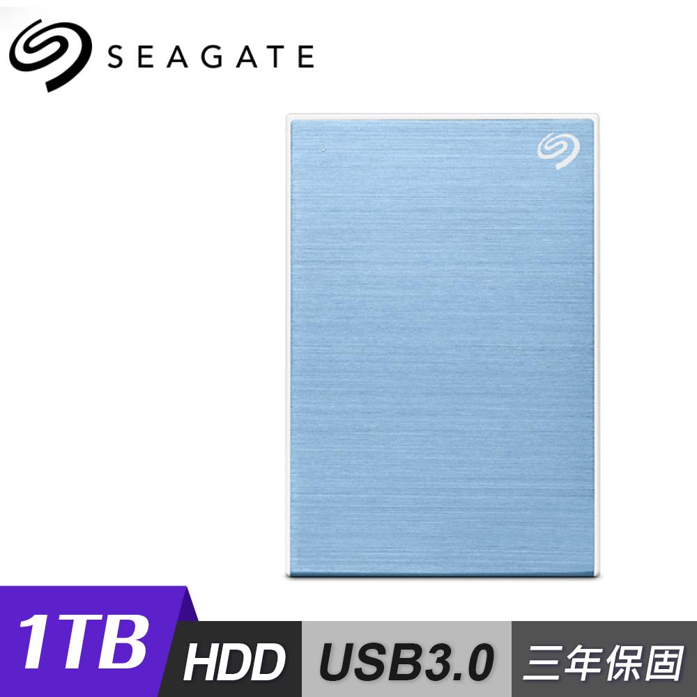 【Seagate 希捷】One Touch 1TB 行動硬碟 密碼版 藍色