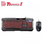 Tt eSPORTS 曜越 軍令官 三色電競鍵盤滑鼠組【加贈軟水壺】