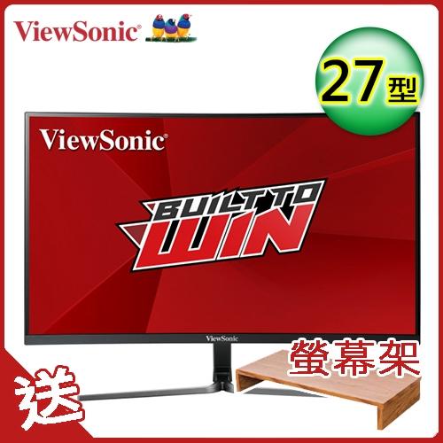 【ViewSonic 優派】VX2758-C-mh 27型144Hz 曲面顯示器