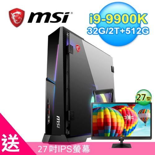 【MSI 微星】Trident X Plus 9SF-084TW 輕巧電競桌機