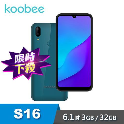 【koobee 酷比】S16 (3G/32G) 6.1吋雙卡智慧型手機-藍