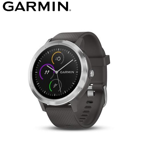 【GARMIN】VIVOLIFE 悠遊智慧腕錶 石墨灰
