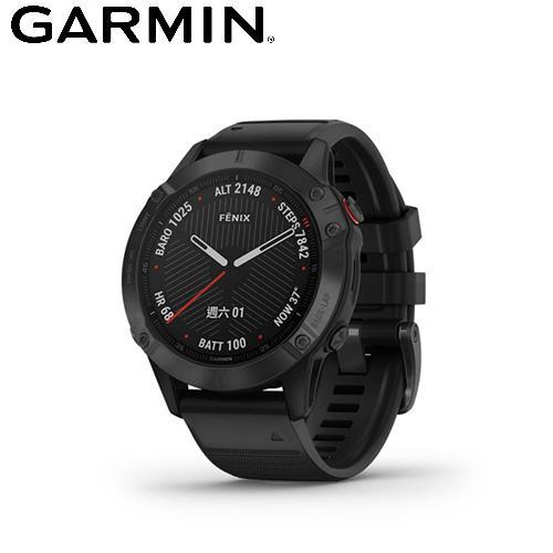 【GARMIN】Fenix 6 進階複合式運動 GPS 腕錶(石墨灰)