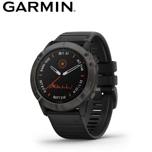 【GARMIN】Fenix 6X 進階複合式運動 GPS 腕錶 (DLC鈦錶圈/石墨灰)