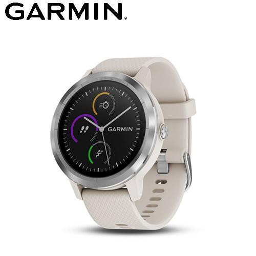 【GARMIN】VIVOLIFE 悠遊智慧腕錶 象牙白