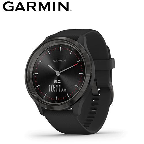 【GARMIN】vivomove 3 指針智慧腕錶(紐約爵士黑)