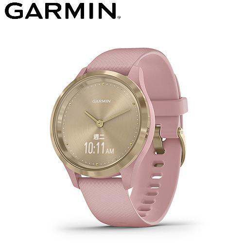 【GARMIN】vivomove 3S 指針智慧腕錶(沁甜糖瓷金)
