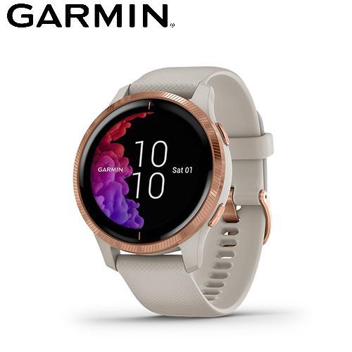 【GARMIN】VENU AMOLED GPS 智慧腕錶(白沙玫瑰金)